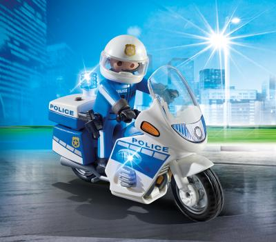 Moto Polic�a con Luces LED